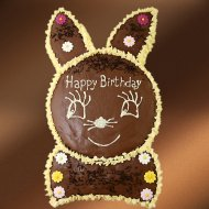 Chocolate Rabbit with Banana Cream