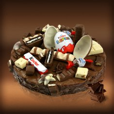 Kinder Chocolate, Sweets & Biscuits Cake