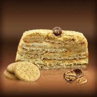 Biscuit Cake with Honey & Walnuts