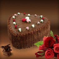 Heart Chocolate Cake