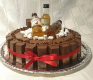Whiskey, Chocolate & KitKat Cake