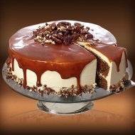 Carrot cake with caramel